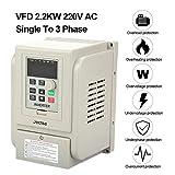 VFD AC220V 2.2kW Monofásico a Trifásica